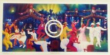 AFRICAN AMERICAN-JUMPIN' AT THE SAVOY-JAZZ - FINE ART PRINT-12''X24'''SIGNED