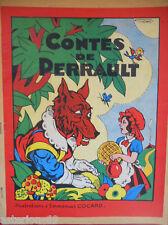 CONTES DE PERRAULT ILLUSTRES EMMANUEL COCARD CA  1930 COLL TOBBY L'ELEPHANT
