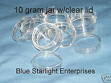 12 - 10 gram jar clear lid watch parts movement holder #110N BPA free
