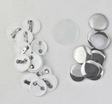 300Pcs 25/32/58mm Blank Pin Button Parts Supplies for Badge Diy Making Machine