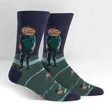 Pumpkin Head (Art work by Jamie Wyeth) on Men's Crew Socks by Sock It To Me