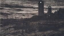 Gravure orig John Anthony Park Ecole Anglaise Shields Harbour Revue l'Art