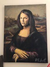 Britney Spears Mona Lisa painting original B. Estrada