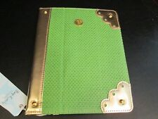 """Green Straw iPad Tablet Cover by Mud Pie, 9""""-10"""", NWT"""