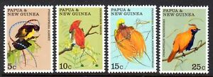 1970 PAPUA NEW GUINEA BIRDS OF PARADISE SG173-176 mint unhinged