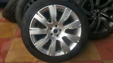 NEW Range rover sport 21 SILVER ALLOY WHEEL AND TYRE 275 45 R21 PIRELLI
