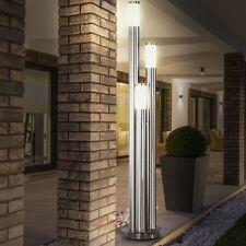 Modern 18W LED Aussenlampe Stehleuchte Hausbeleuchtung Edelstahl IP44 Terrasse