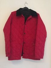 BARBOUR BOYS RED QUILTED JACKET XL GENUINE 12/13 Years