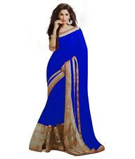 Veeraa Saree Exclusive Beautiful Designer Bollywood Indian Partywear Sari 181BLU