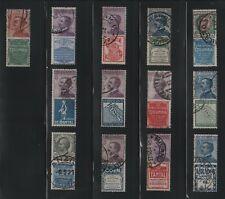 Francobolli Collezione Regno 1924 Pubblicitari