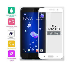 3 × HTC U11 White Genuine Full Coverage Tempered Glass Screen Protector Film