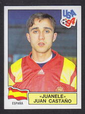 Panini - USA 94 World Cup - # 204 Juanele - Espana (Black Back)