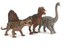 3 Kid Galaxy Poseable Dinosaur Figures - Argentinosaurus Dimetrodon T-Rex
