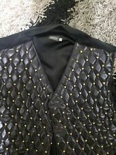 Mens MAURI VEST- Size 50- Made In Italy- Black/Gold- Great Condition!
