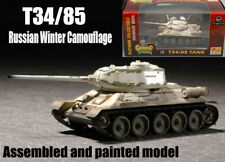 WW2 Russian Army T-34/85 1943 winter camouflage tank 1/72 finished Easy model