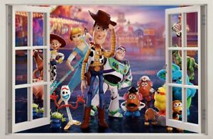 WALL STICKERS 3D Effect Window TOY STORY 4 decorative sticker to the room 78
