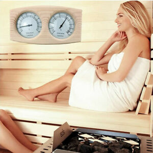 2-IN-1 Sauna Thermometer&Hygrometer Hygrothermograph Wood Sauna Room Accessories