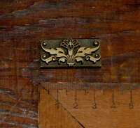 Rahmen Zierelement Messing Prägestempel Ornament Buchbinden Prägen brass floral.