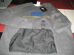 MENS NIKE INDIANAPOLIS COLTS CREWNECK SWEATER TOP LARGE L GRAY/GOLD  NWT $80