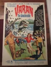 Varan The Unbelievable    -Original   40 x 60 Movie Poster-