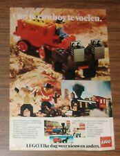 RARA pubblicità LEGO Trains 396 Thatcher Perkins locomotiva 697 carrozza NL 1976