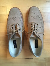 Men's Loake Jack Suede Leather Lace-Up Brogue Shoes - Sand - Size 9.5 UK / 10 US