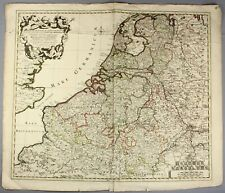 1704 | large and original engraved map by Peter Schenk | low countries benelux