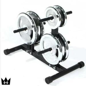DUMBBELLKING™ Plate Tree (150kg Weight Capacity)