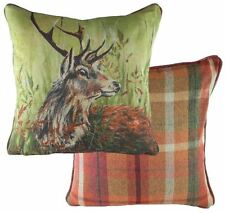 EVANS LICHFIELD COUNTRY MANOR HIGHLAND STAG TARTAN MADE IN UK CUSHION 43CM