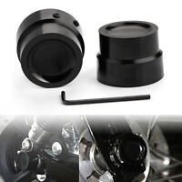 2pcs Front  Axle Nut Cover Cap For Harley Dyna V-Rod Sportster 883 1200