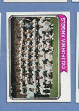 1974 TOPPS BB #114 ANGELS TC NM