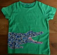NEW MINI BODEN GIRLS SIZE  3 - 12 YEARS GREEN CROCODILE APPLIQUE T SHIRT TOP
