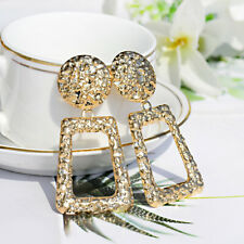 Fashion Golden Silver Raised Design Statement Women Earrings Wedding Party Gifts