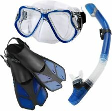 Zentouch Snorkel Set, Diving Mask with Easy Ajustable Strap 180° Panoramic View