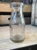 Vintage Half Pint Milk Bottle Mount Pleasant Dairy West Allis Wisconsin
