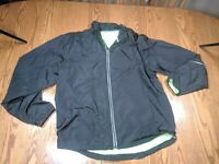 New Balance Windbreaker Track Jacket Black Running Athletic Mens Size M
