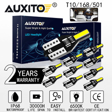 10PC T10 194 168 CANBUS 6000K White LED License Plate Interior Wedge Light Bulbs