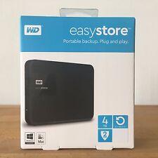 WD - easystore® 4TB External USB 3.0 Portable Hard Drive - Black, NEW