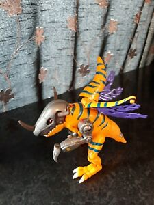 Digimon miniature figure bandai - greymon with working mechanisms Rare