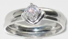 Engagement Round Natural Sterling Silver Fine Rings