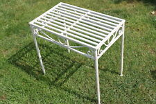 Versailles Metal Side Table or Plant Stand in Antique White Finish (mid Size)