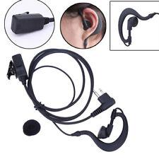 2 Pin Security Walkie Talkie Headset/earpiece Mic Ear-hook for Motorola Radio UK