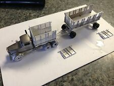 ULRICH 1/87 CLASSIC TANDEM  KENWORTH FLATBED WITH FLATBED TRAILER ALL METAL