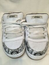 Etnies Kids Boys Team 1 White Black Grey Childrens Skate Shoes UK Size 4 BNWOB
