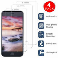 4-Pack For iPhone 11 Pro X Xs Max XR 8 7 6 Plus Tempered GLASS Screen Protector