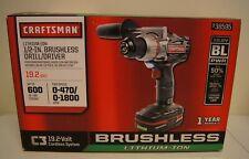 "New! Craftsman C3 19.2 Volt Li-Ion 1/2"" Brushless Drill/Driver (Model: 938595)"