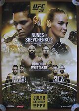 Official UFC 213 Nunes vs Shevchenko 2 Poster 27x39 (Near Mint)
