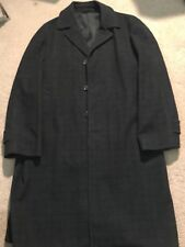 Alligator Men's Overcoat Black Weathered Water Repellent