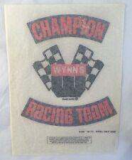 Vintage Large Iron On Hot Rod Decal Wynn's Champion Racing Team