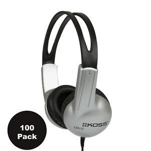 Lot of 100 Koss UR-10 Closed Ear Adjustable Stereo Headphones